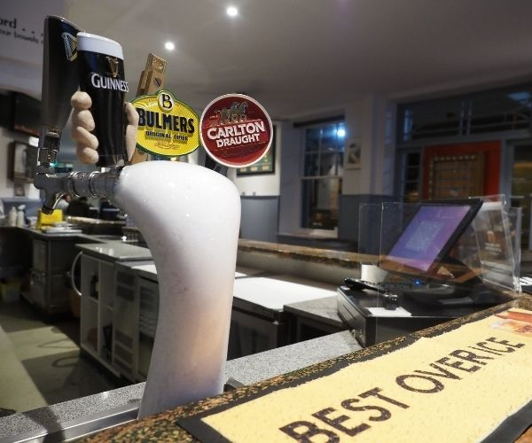 Beer Tap in Star of the West Hotel Sports Bar