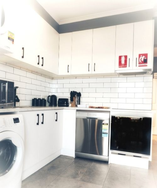 Kitchen in self contained apartment