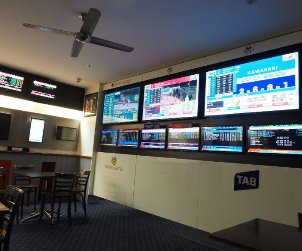 Screens in Sports Bar