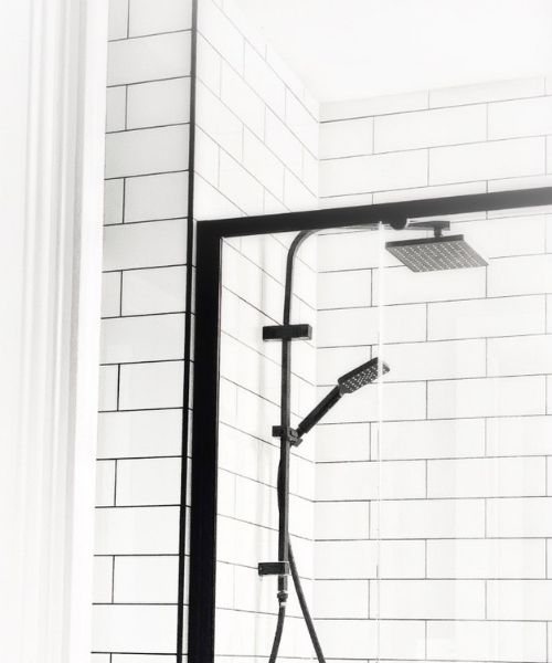 Shower in self contained apartment